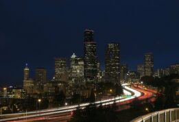 light trail photography seattle